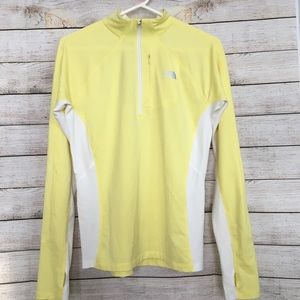 THE NORTH FACE Long Sleeve Yellow Pullover